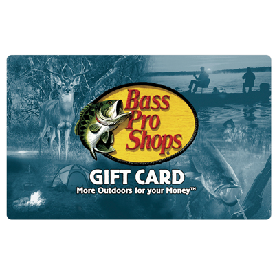 BASS PRO SHOPS<sup>&reg;</sup> $25 Gift Card - Use this gift card for all of your outdoor recreation needs.
