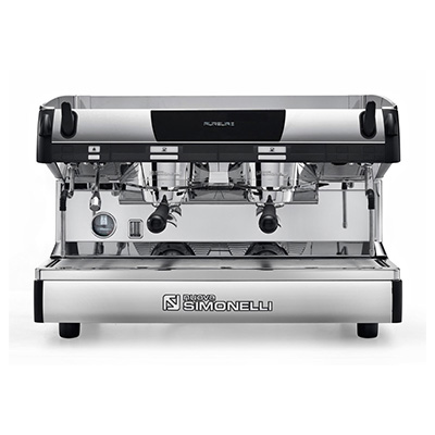 NUOVA SIMONELLI<sup>®</sup> Aurelia II Espresso Machine - Recognized NUOVA SIMONELLI<sup>®</sup> Aurelia II Espresso Machine - Recognized as one of the top preforming machines, this commercial grade espresso maker will turn your kitchen into a coffee bar.  Known for accuracy in temperature control, this machine also offers a brilliant stainless steel ergonomic design,  auto steam wand, dual chambers and self-cleaning feature.  Must have water line connection available for hookup.